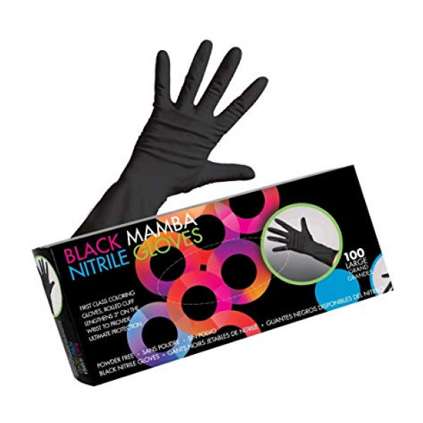 FRAMAR BLACK MAMBA NITRILE GLOVES MEDIUM
