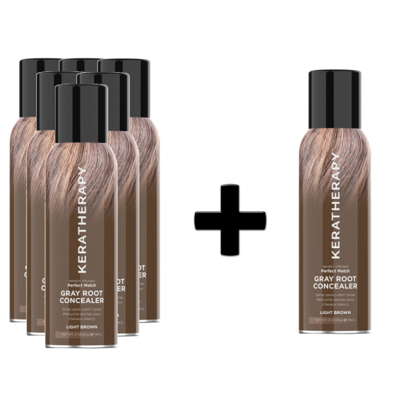 KERATHERAPY LIGHT BROWN ROOT CONCEAL DEAL