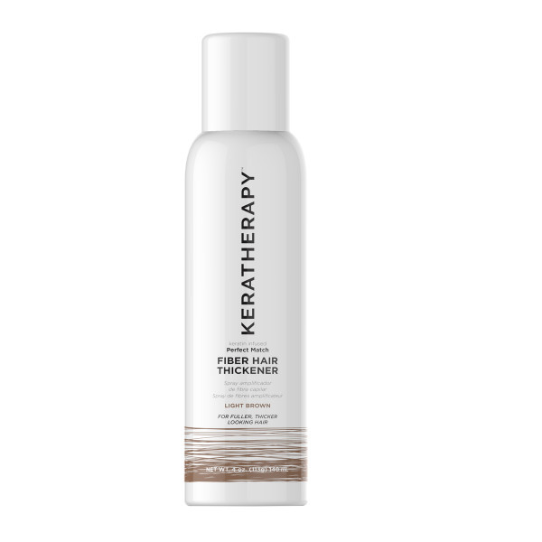 KERATHERAPY PERFECT MATCH FIBER HAIR THICKENER  LIGHT BROWN