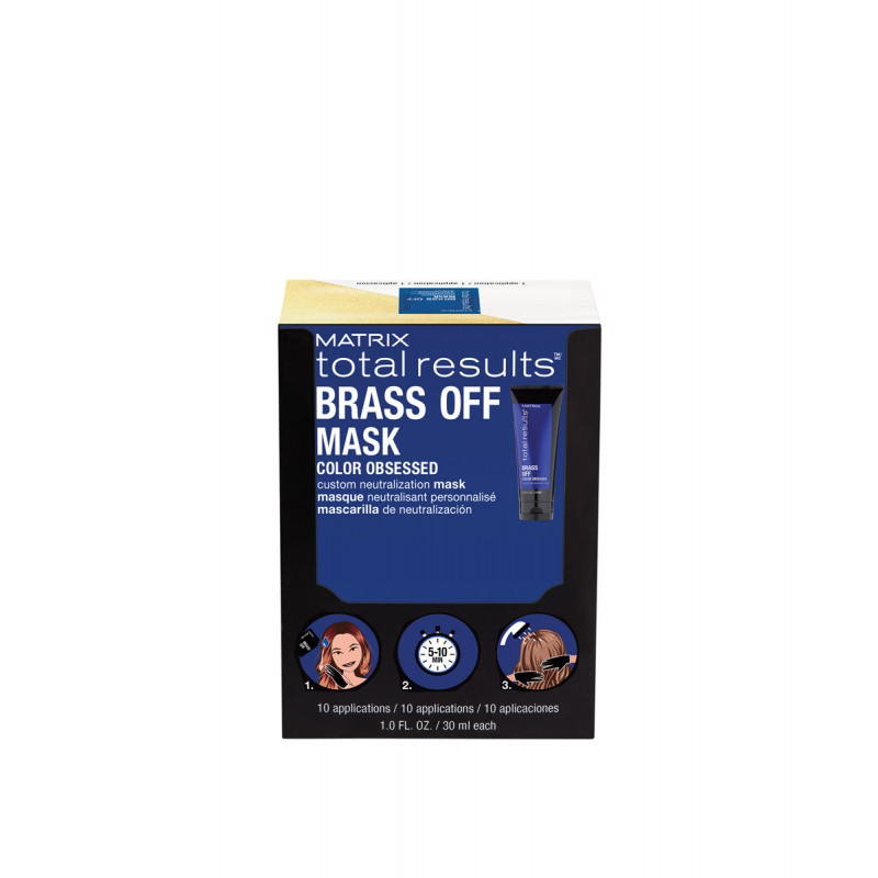MATRIX TOTAL RESULTS BRASS OFF NEUTRALIZATION HAIR MASK PACKETTES