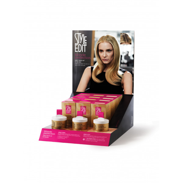 STYLE EDIT BLOND PERFECTION ROOT TOUCH UP POWDER DISPLAY INTRO