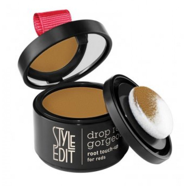 STYLE EDIT ROOT TOUCH UP DROP RED GORGEOUS POWDER COMPACT  LIGHT RED