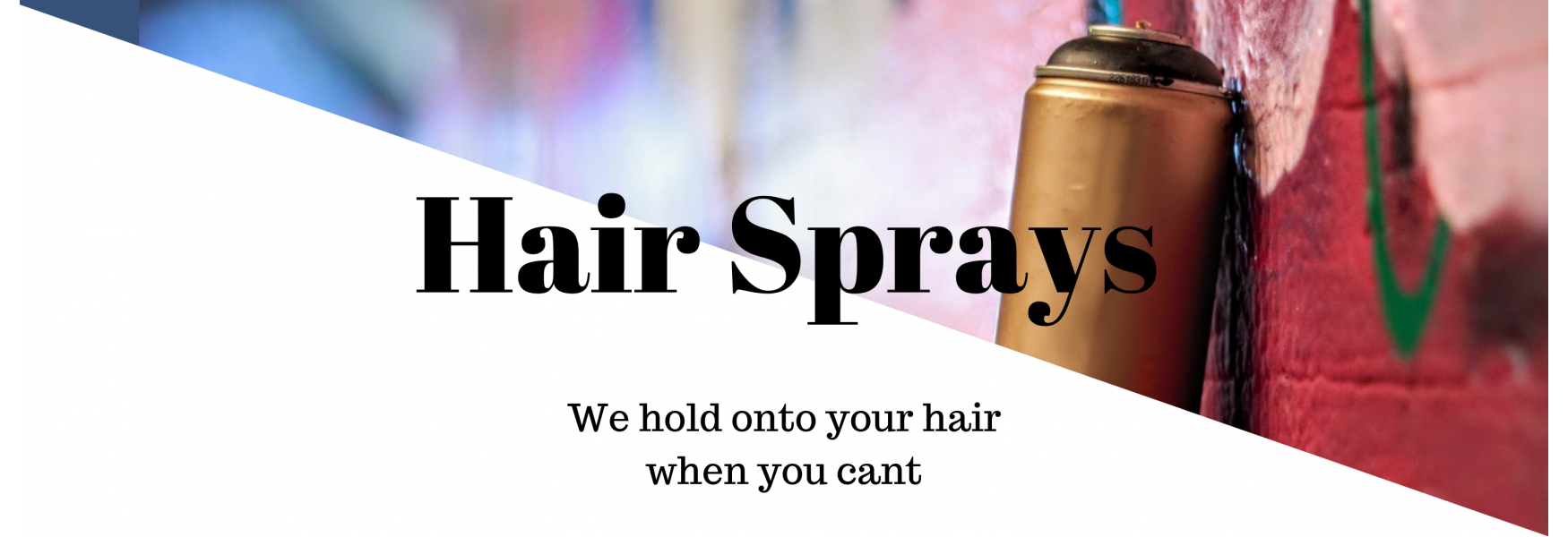 hair spray category banner