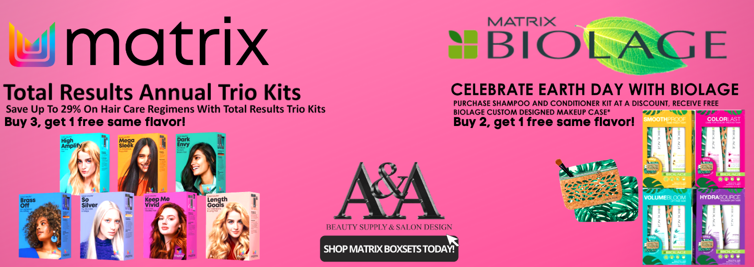 MATIRX TOTAL REULTS & BIOLAGE BUY 1 GET 1 BANNER